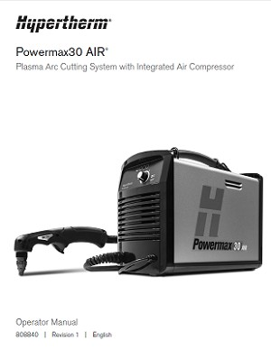 Hypertherm Powermax 30 AIR Operator's Manual 808840