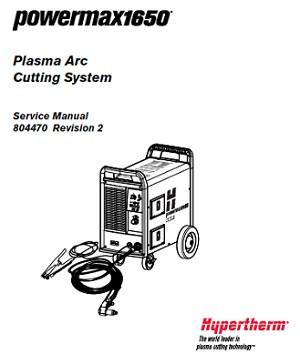 Hypertherm Powermax 1650 Service Manual