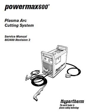 Hypertherm Powermax 600 Service Manual 803400