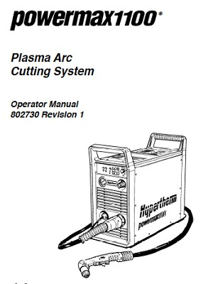 Hypertherm Powermax 1100 Operators Manual