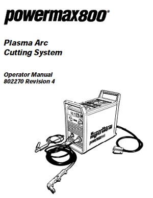 Hypertherm Powermax 800 Operator's Manual