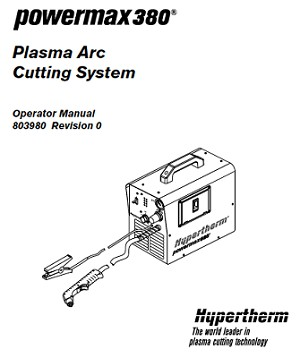 Hypertherm Powermax 380 Operators Manual
