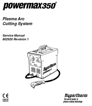 Hypertherm Powermax 350 Operators Manual