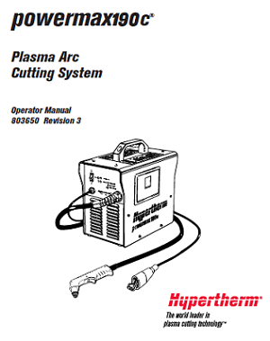 Hypertherm Powermax 190c Service Manual