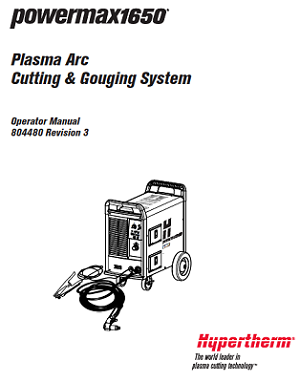 Hypertherm Powermax 1650 Operators Manual