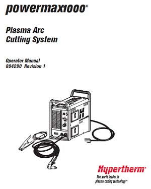Hypertherm Powermax 1000 Operator's Manual